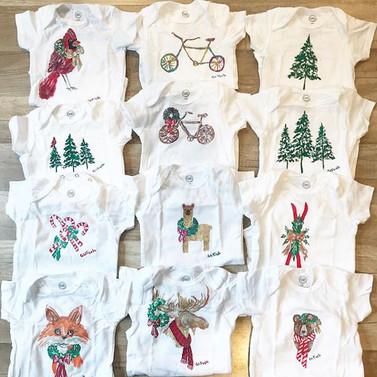HAND PAINTED BABY ONESIES!! All are one