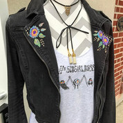 My Hand Painted and Appliqué jackets, je