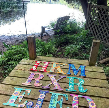 I painted these NEW Summer Letters with