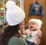 Matching Momma/Baby Hats and Hand Painte