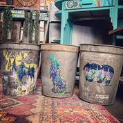 These three beauts painted on used sap b