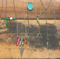 $16 necklaces designed and handmade by y