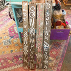 Made some festive wooden pallet signs to