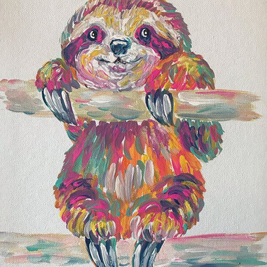 Baby Sloth!!!! 🦥 11x14in $35 . . . Clai