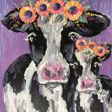 Moo 💕 16x20in $35 . . . . #cow #paintin
