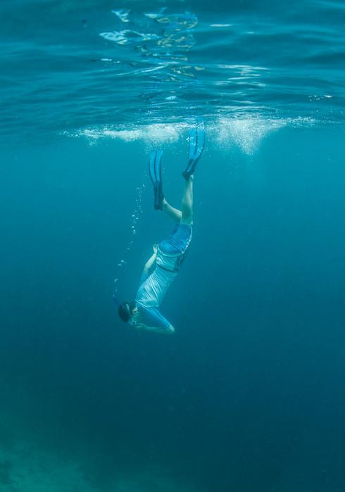 Hugo snorkelling Maldives