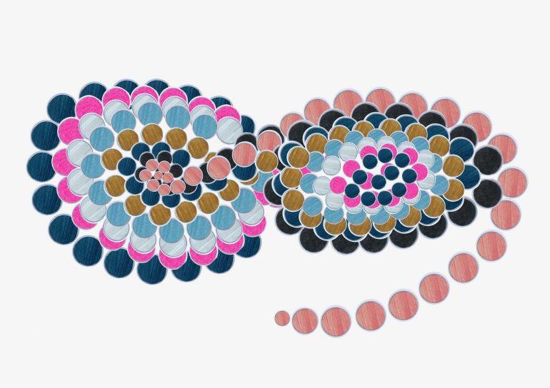 A circular print graphic – Earth Logic: Fashion Action Research Plan