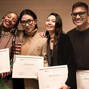 Winners from the kering award smiling with their awards