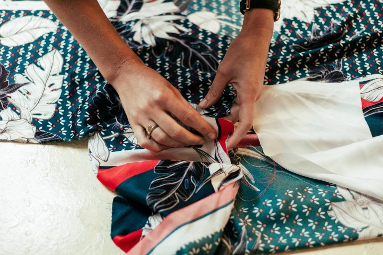hands hand-sewing fabrics – Centre for Sustainable Fashion