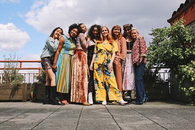 NuWadrobe Eight female models pose outsi