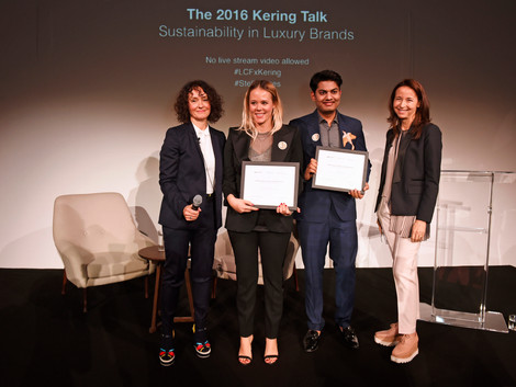 2016 Winners of the Kering Award for Sustainable Fashion