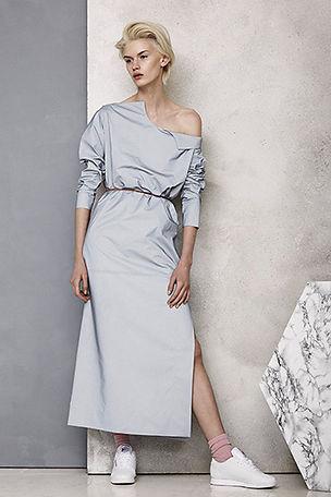 model wearing martine jarlgaard designs.