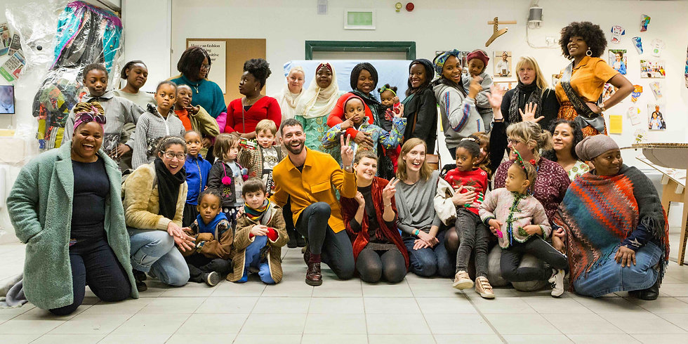 Francesco and the participants in the Forest Coats programme. Photo by Adam Razvi.