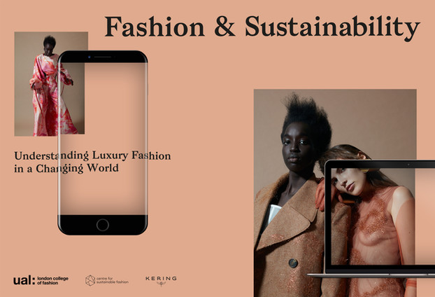 An advertising image Fashion & Sustainability: Understanding Luxury Fashion in a Changing World.