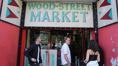 Project visit at Wood Street Market. Photo by Francesco Mazzarella