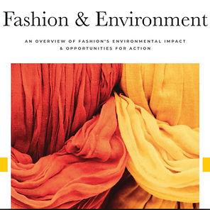 Fashion & Environment White Paper