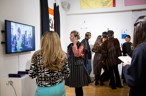 COMME des MARXISTS exhibition preview at Fashion Space Gallery, 2018. Photo Katy Davies