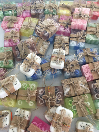 Made in Zaatari first soap samples