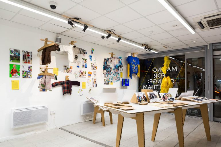 The inside of the Making for Change: Waltham Forest exhibition