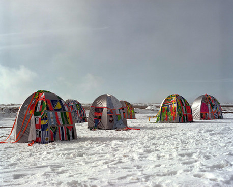 Antarctic Village No Borders – Ephemeral Installation in Antarctica, 2007