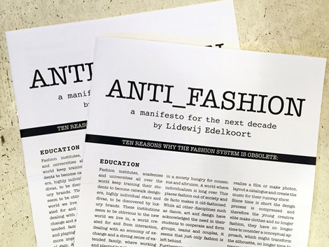 What does a fashion manifesto look like?