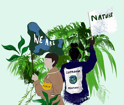 CSF change makers illustration with flags reading we are nature
