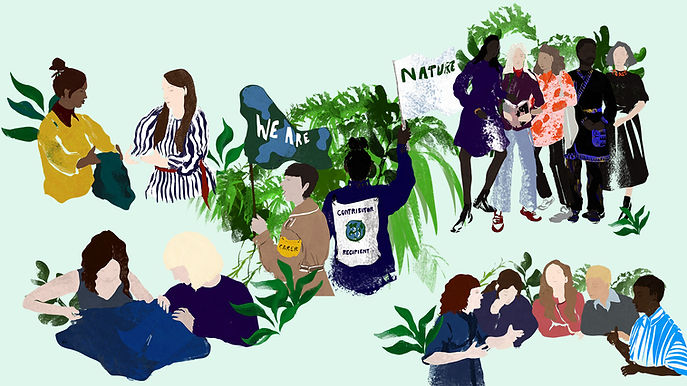 illustration of the team at centre for sustainable fashion
