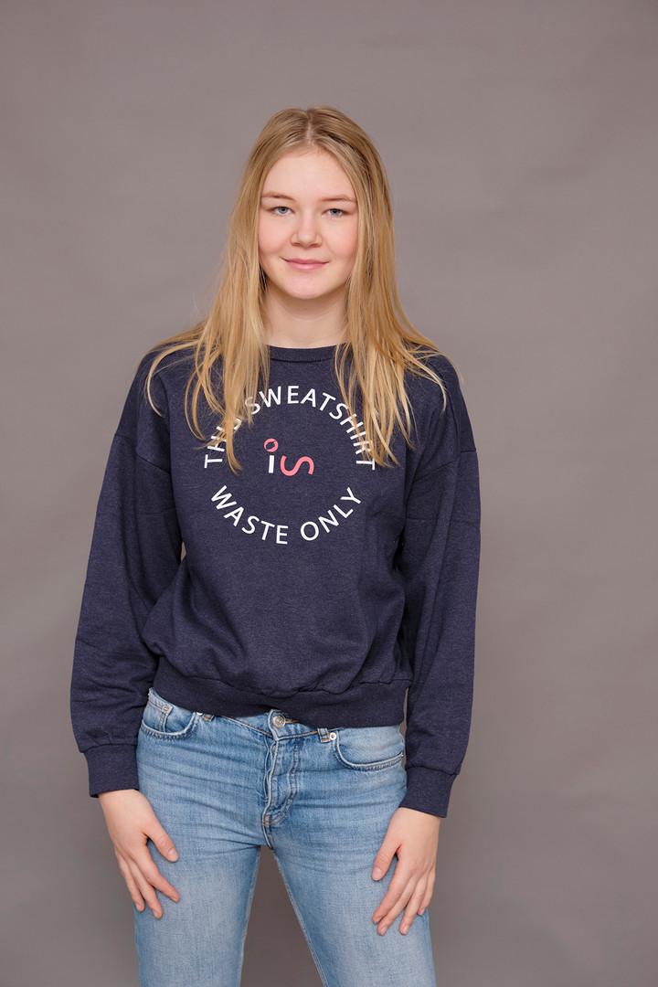 100% recycled sweatshirt