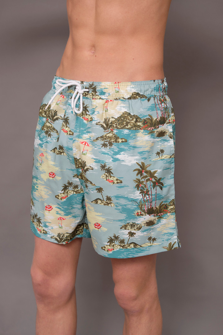 Recycled polyester swim shorts