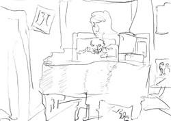 Dark Haunted Piano Room