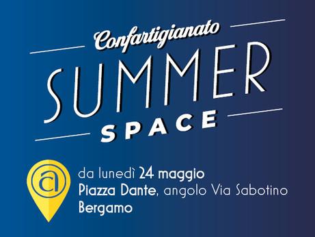 """BERGAMO - In Piazza Dante arriva """"Confartigianato Summer Space"""" Dal 24 maggio info-point"""
