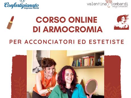 PAVIA - Un corso online di armocromia rivolto ad acconciatori ed estetiste