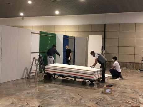 BERGAMO - CORONAVIRUS: La solidarietà degli artigiani aiuta l'allestimento del nuovo ospedale alla f