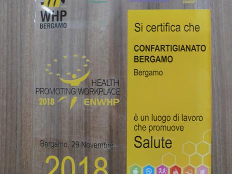BERGAMO - Confartigianato Bergamo premiata per il secondo anno come luogo che promuove la salute