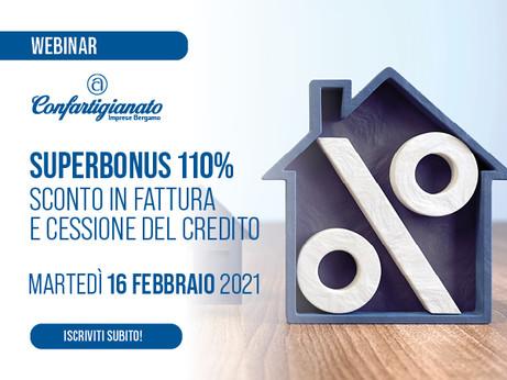 BERGAMO - Superbonus 110%, incentivi alle assunzioni, crediti d'imposta. Tre webinar gratuiti.
