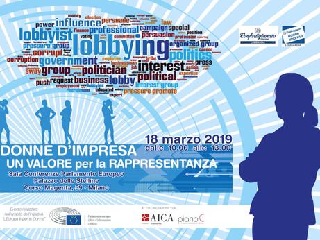 CONVEGNO - Donne d'impresa un valore per la rappresentanza, lunedì 18 marzo a Milano