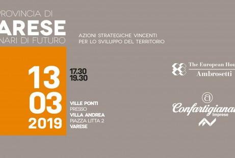 """VARESE - Convegno """"La provincia di Varese, scenari di futuro azioni strategiche vincenti per lo"""
