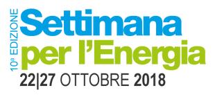 SETTIMANA PER L'ENERGIA 2018 - Dal 22 al 27 ottobre appuntamenti in tutta la Lombardia  intorno