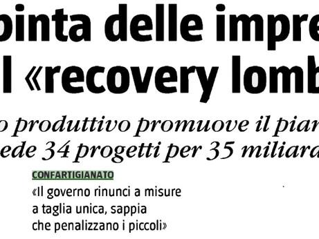 """MEDIA – Su """"Il Giornale"""" il Presidente Massetti commenta la via lombarda al Recovery Plan"""