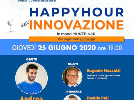 BRESCIA - Movimento Giovani Imprenditori: seminario web – Happy Hour dell'Innovazione con Andrea Bos
