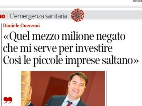 API MILANO - Credito: Daniele Guerzoni racconta al Corriere della Sera del suo finanziamento per cre