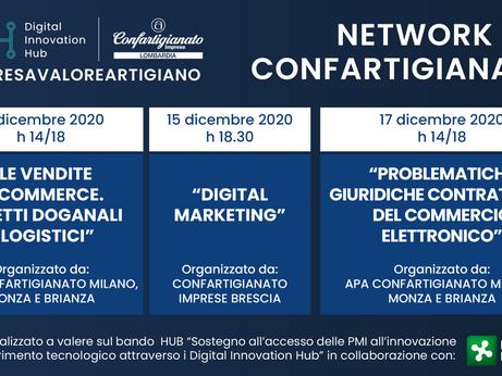 DIGITALE – Tre appuntamenti per il progetto #IMPRESAVALOREARTIGIANO - Network DIH Confartigianato