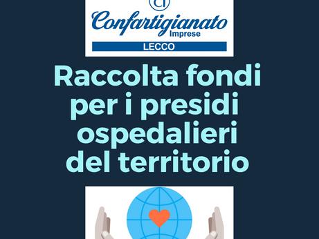 LECCO - Confartigianato Imprese Lecco promuove una raccolta fondi a favore delle strutture ospedalie