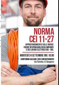 BERGAMO - Convegno per approfondire le nuove figure responsabili degli impianti e dei lavori elettri
