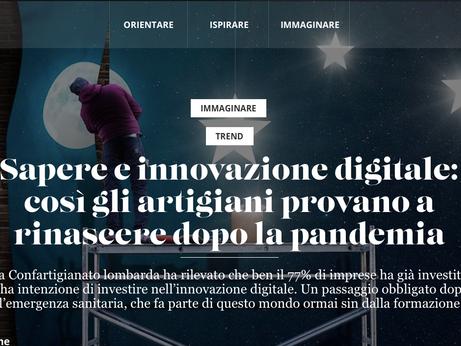 DIGITALE – Su Morning Future si racconta la rivoluzione digitale degli artigiani