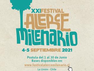Festival Alerce Milenario confirma una nueva versión online para el mes de Septiembre.