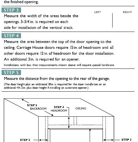 How To Measure a Garage Door