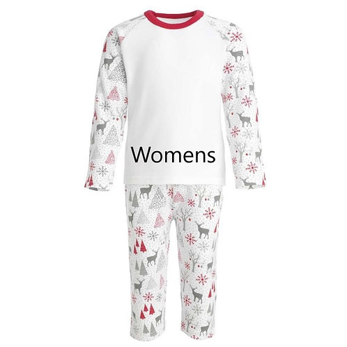 PRE ORDER - Womens Grey & Red Reindeer Xmas PJ's