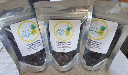 Dried Pineapple in Dark Chocolate