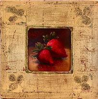 Venetian Frame - strawberries
